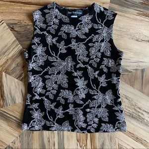 Sleeveless Evening Top with Sparkling Detail
